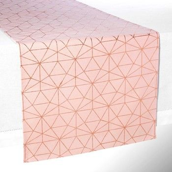 MAGIX pink cotton table runner L 180 cm