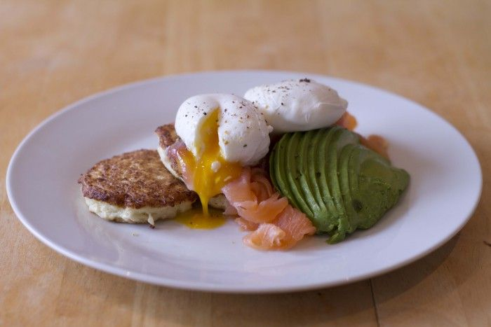 Recipe of the day: Cauliflower drop scones with smoked salmon and poached eggs / The Body Coach Blog / The Body Coach
