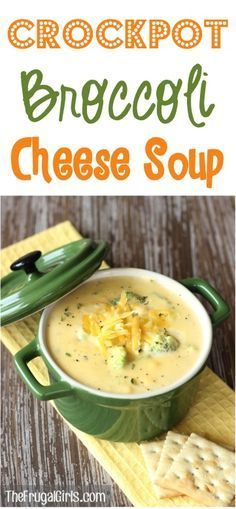 This Crockpot Broccoli Cheese Soup Recipe is SO easy to make and ridiculously delicious! It's the perfect soup to warm you up on a chilly evening!