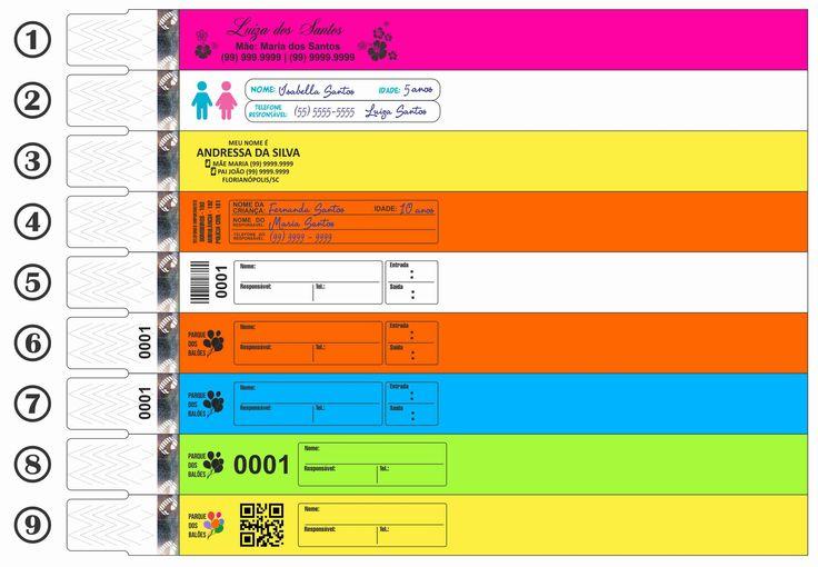 Pulseiras de Identificação Infantil   Pulseira Virtual