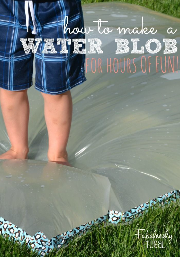 How to Make a Water Blob for Hours of Summer Fun! This is a frugal and EASY way to have an afternoon of fun!