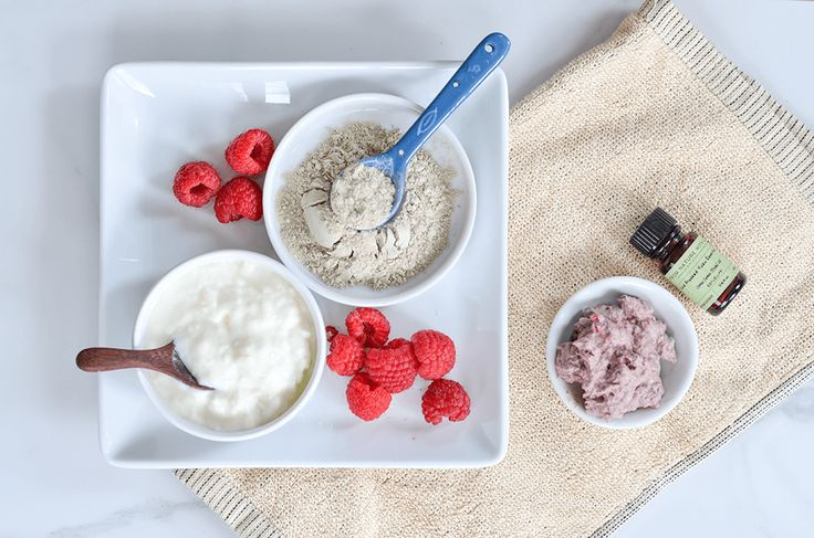 Make Your Own Exfoliating Raspberry Yuzu Facial Mask Make your own Raspberry Yuzu Facial Mask - a deep cleansing and exfoliating fresh facial made with yogurt and bentonite clay.