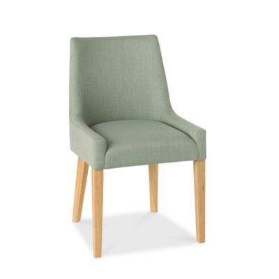 Debenhams Pair of duck egg blue 'Ella' upholstered tub dining chairs with light oak legs- at Debenhams.com