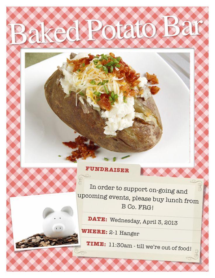 B Co. FRG Fundraiser: Baked Potato Bar | B Co. FRG ...