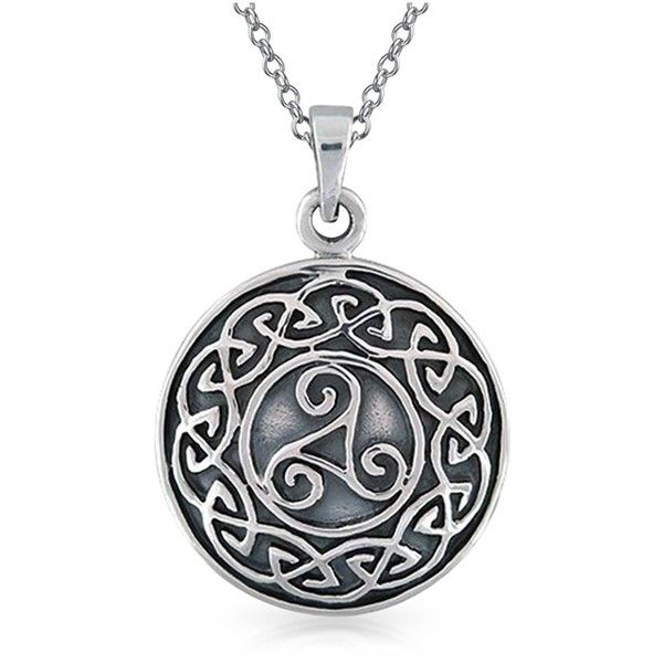 Bling Jewelry Bling Jewelry Sterling Silver Celtic Knot Medallion... (£23) ❤ liked on Polyvore featuring men's fashion, men's jewelry, men's necklaces, grey, mens celtic knot necklace, mens chain necklace, mens sterling silver chain necklace, mens pendant necklace and mens gold medallion necklace