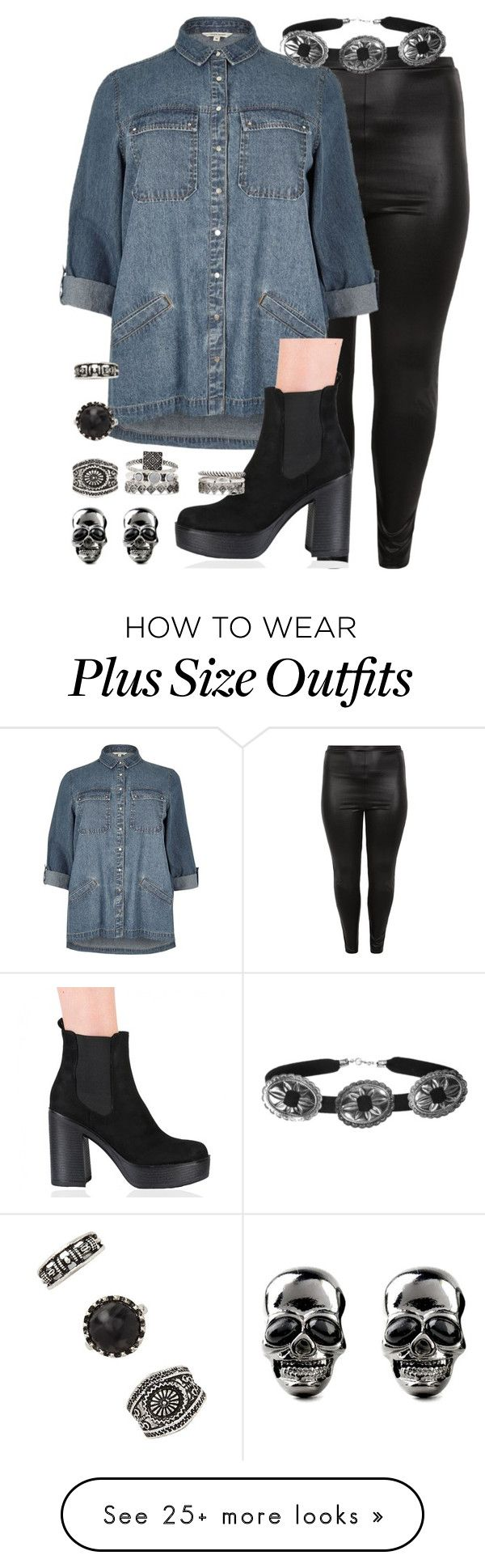"""""""jesy plus size insp"""" by bekahtee on Polyvore featuring New Look, River Island and Forever 21"""