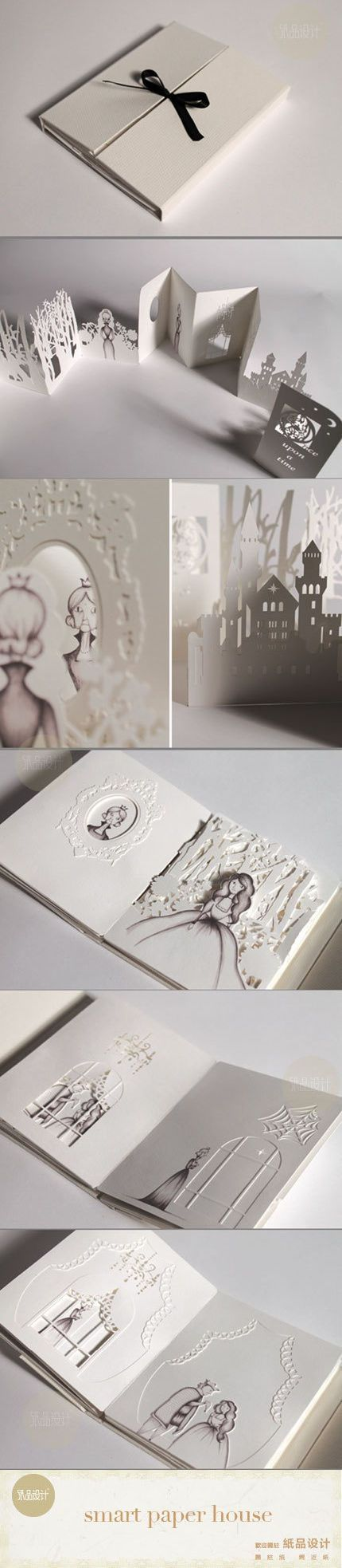 3d invite story book of the seasons that fuses a picture with the image of the bottle at the end or the bespoke glass