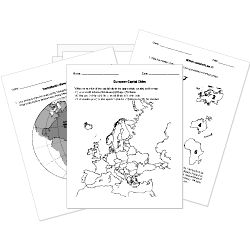 Free Printable Geography Tests, Worksheets, and Activities