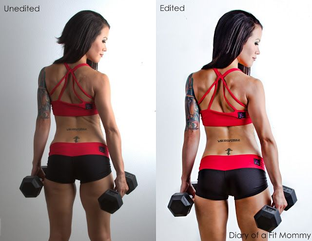 MUST READ. Fitness model shares her unedited photos to show you the magic of photoshopping in the fitness industry.