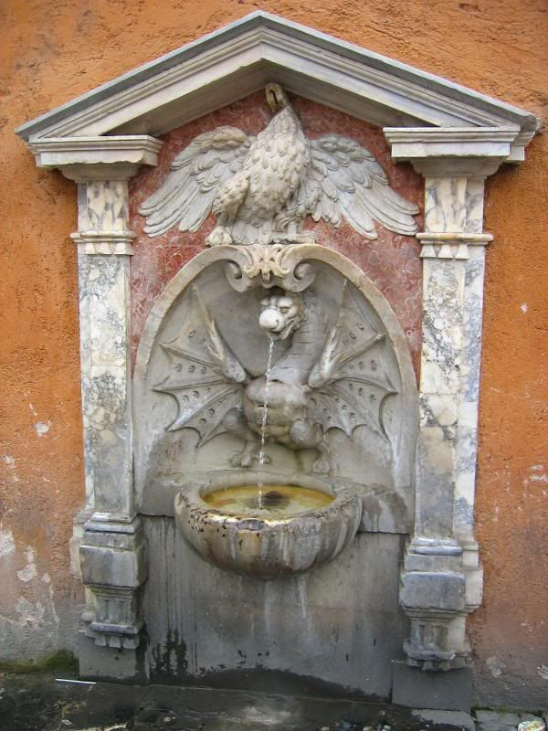 Dragon Fountain ~ Rome  To discover more about #Rome and its fountains, check our tours on www.youtourroma.com/