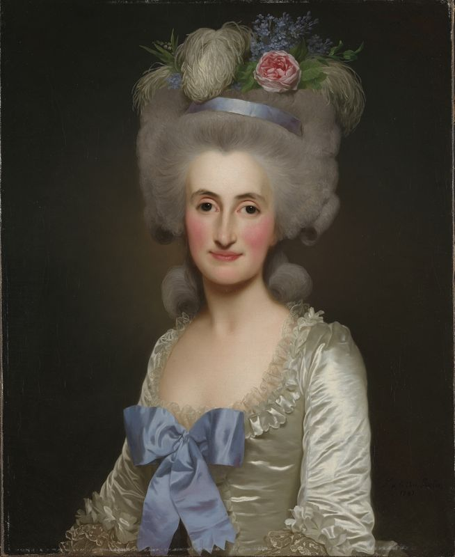 Anne Jaqueline Sophie de Malartie, 1781, by Alexander Roslin. Olje på lerret