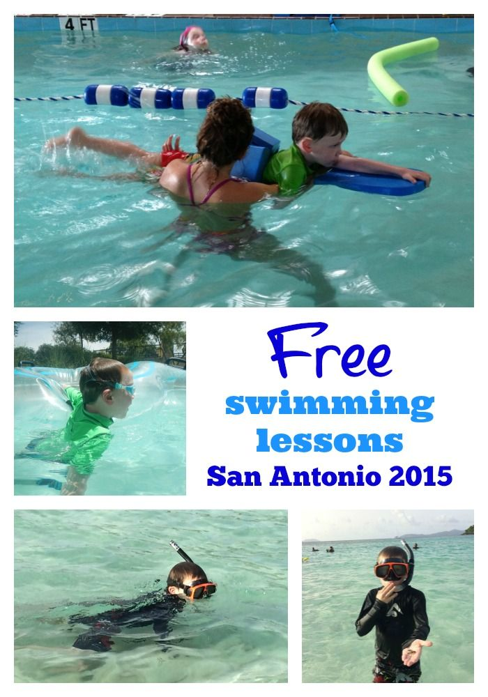 Free swimming lessons in San Antonio in 2015