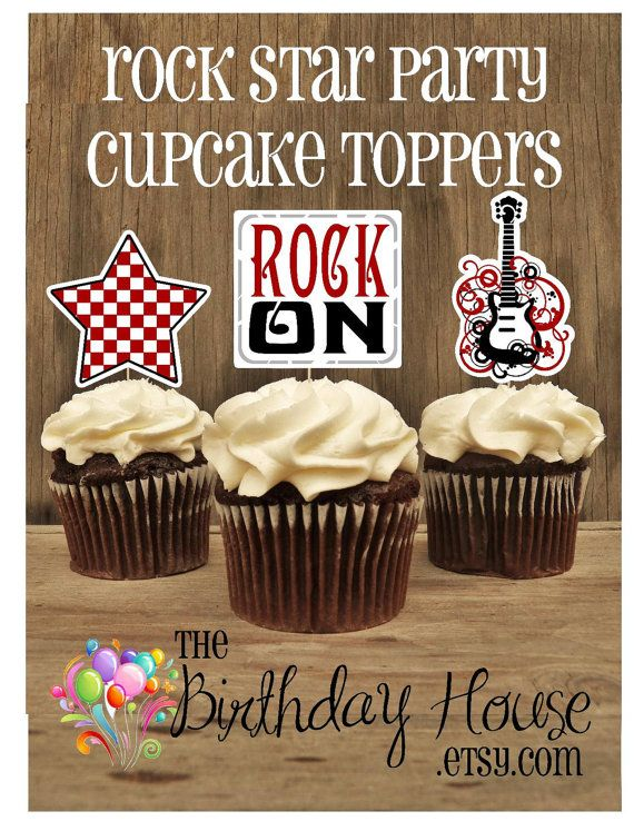 Rock Star Party  Set of 12 Assorted Rock Star by TheBirthdayHouse