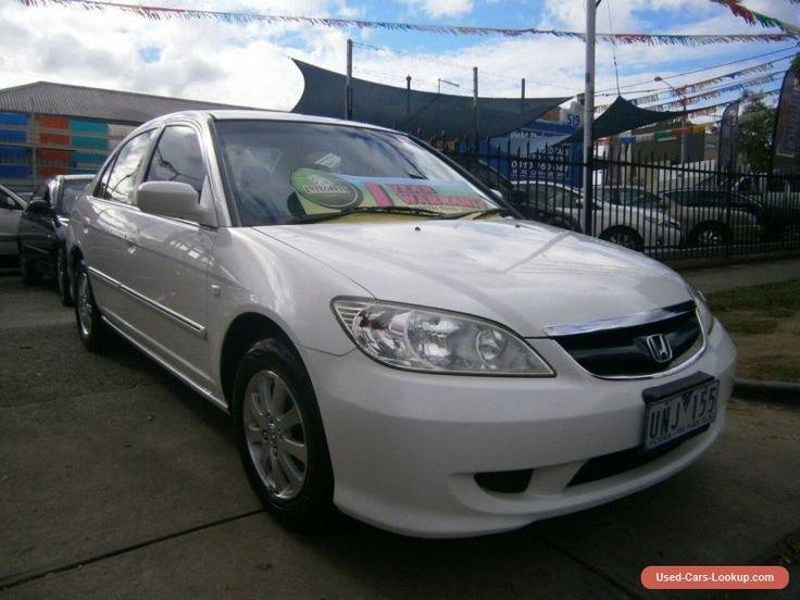 2004 Honda Civic 7TH GEN GLi White Automatic 4sp A Sedan #honda #civic #forsale #australia