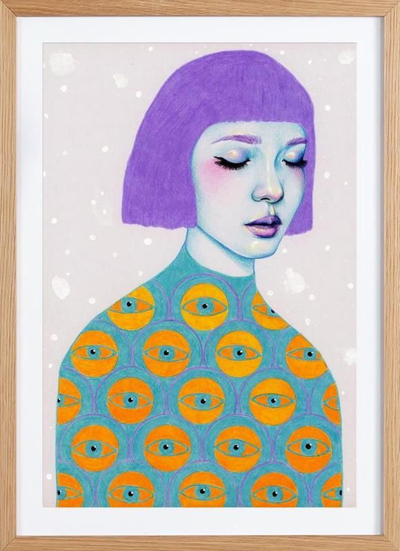 The Observer en Affiche sous cadre en bois par Natalie Foss | JUNIQE