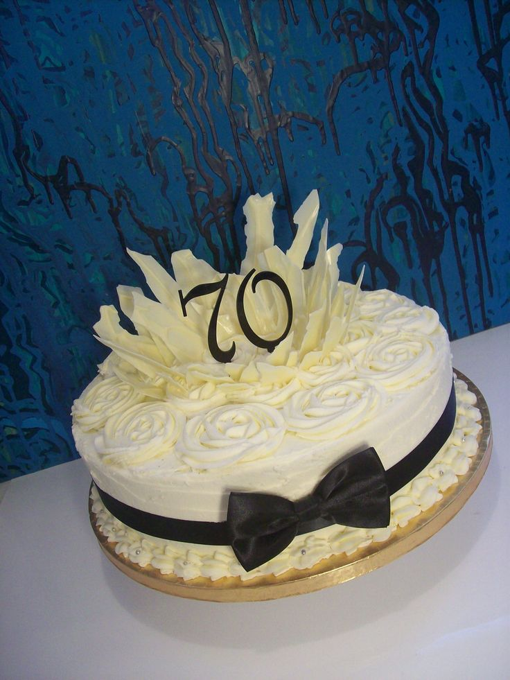 14 Inch 70th Birthday Cake Auckland 295 Birthday Cakes