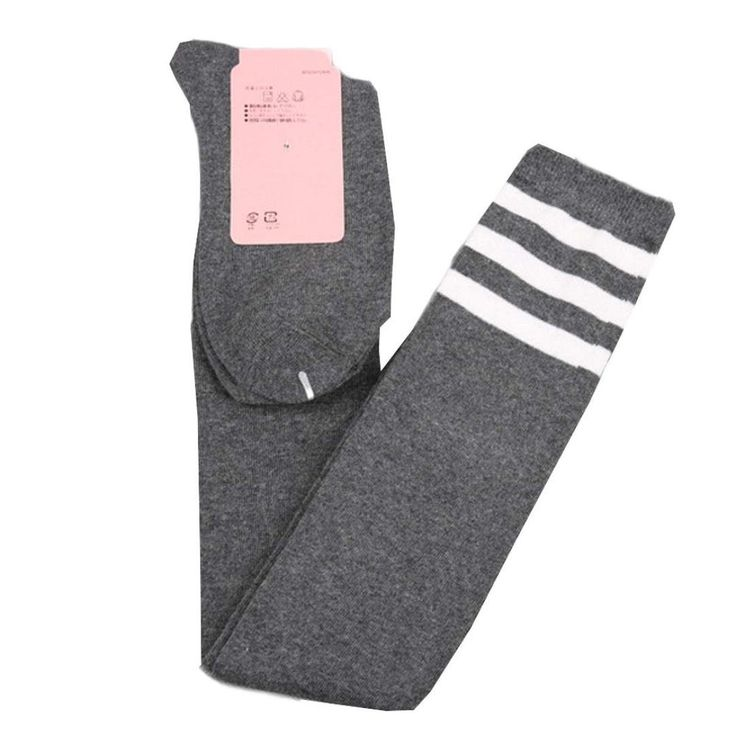 """Besde Women Girls Soft Cotton High Tube Socks Over The Knee Long Boot Thigh-High Warm Socks Leggings (Grey). 100% brand new and high quality. Material: cotton. This item is very popular, it is made of soft material, comfortable to touch and wear. Breathable, Elastic and Thin Over Knee.Particularly suitable for the autumn and winter leg stockings. Size: Abou 56cm/22.05""""."""