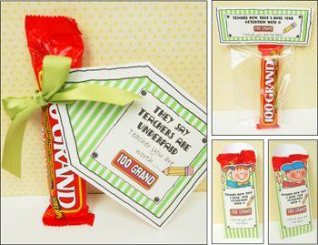 "Candy Sayings ""Teacher's 100 Grand"""
