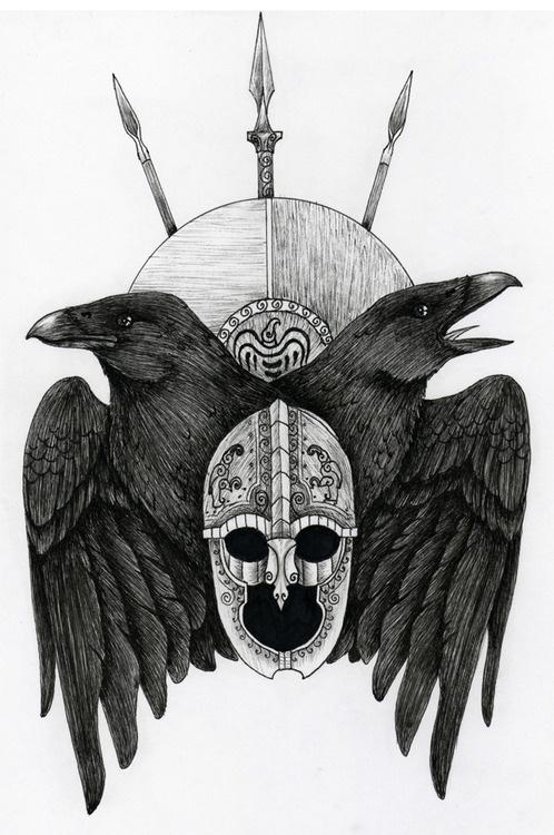 odin s ravens   Tumblr Tattoo Ideas  Tattoo Frontrunn  Odin Ravens    Odins Ravens Tattoo