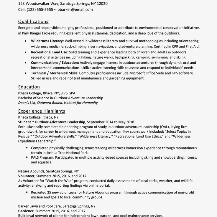 Extra Curricular Activities for Resume Entry Level Resume