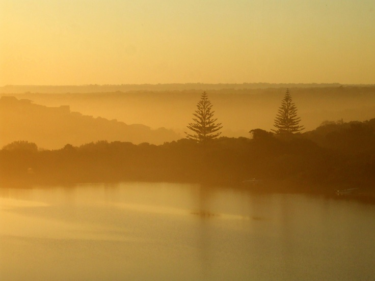 Sunset over the Kleinemonde river Eastern Cape South Africa