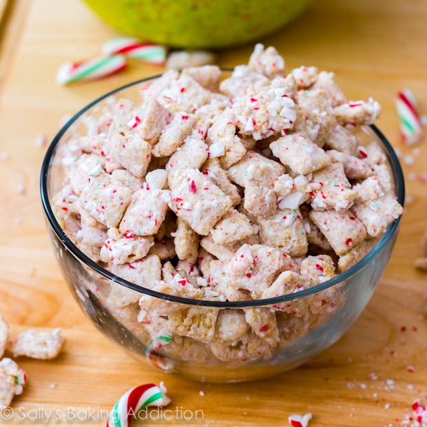 Peppermint Crunch Puppy Chow by Sallys Baking Addiction