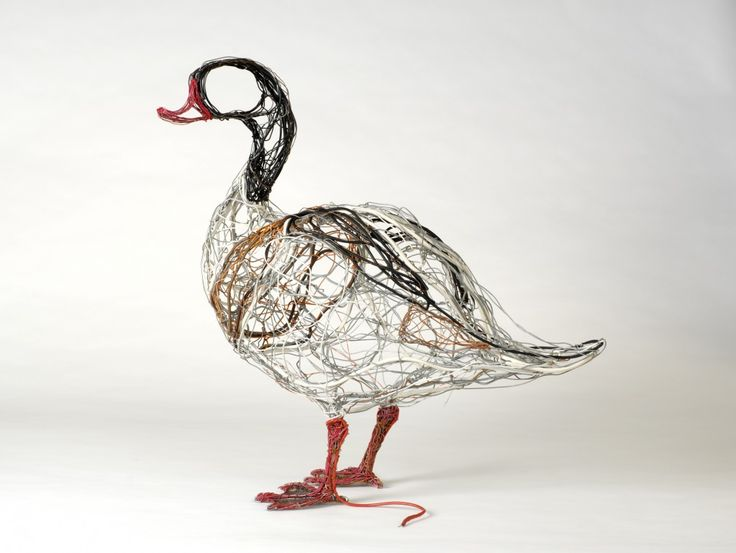 Telephone wire sculptures by celia smith art pinterest for How to make a 3d bird sculpture