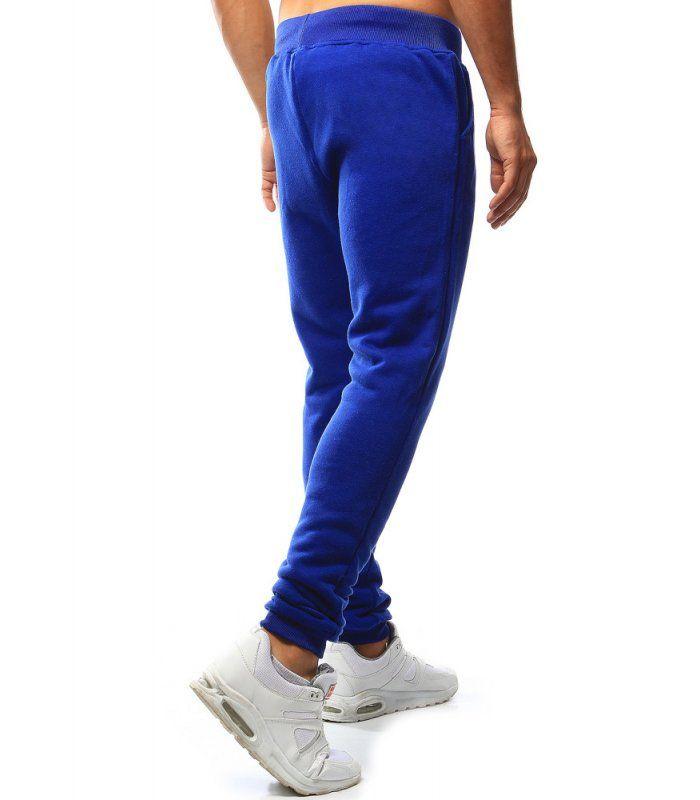 Pánske modré teplákové nohavice
