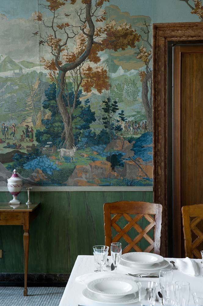 25 best ideas about antique wallpaper on pinterest for Dining room mural wallpaper