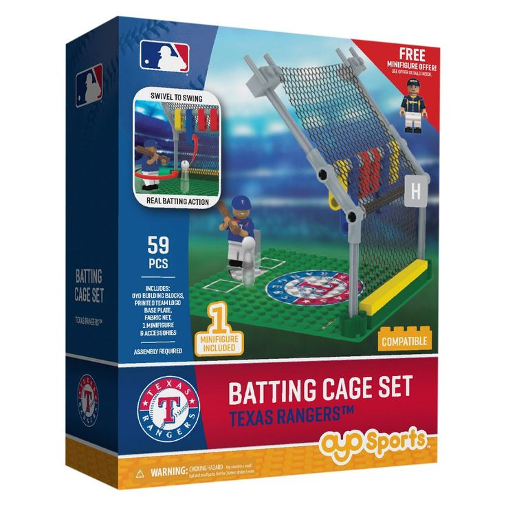 MLB Texas Rangers Oyo Batting Cage Set - 59pcs