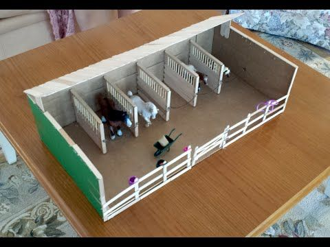 How To Make Schleich Breyer Horse Stall Dividers For A