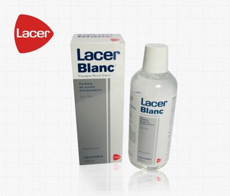 Dientes sanos y blancos. Lacer Blanc Colutorio http://farmafamily.es/index.php?main_page=index=0