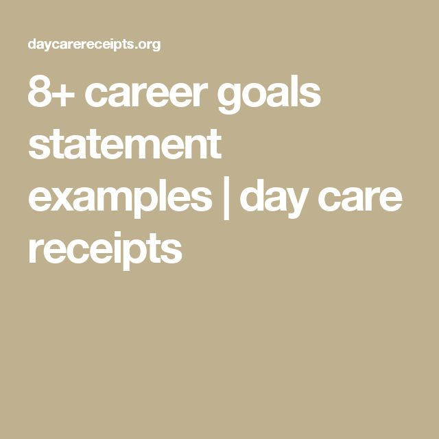The  Best Career Goal Statement Ideas On   Motivation
