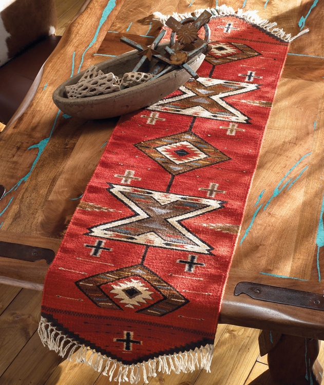 ~ Great southwestern table runner.  Love the colors; just sorry they're not around anymore. ~