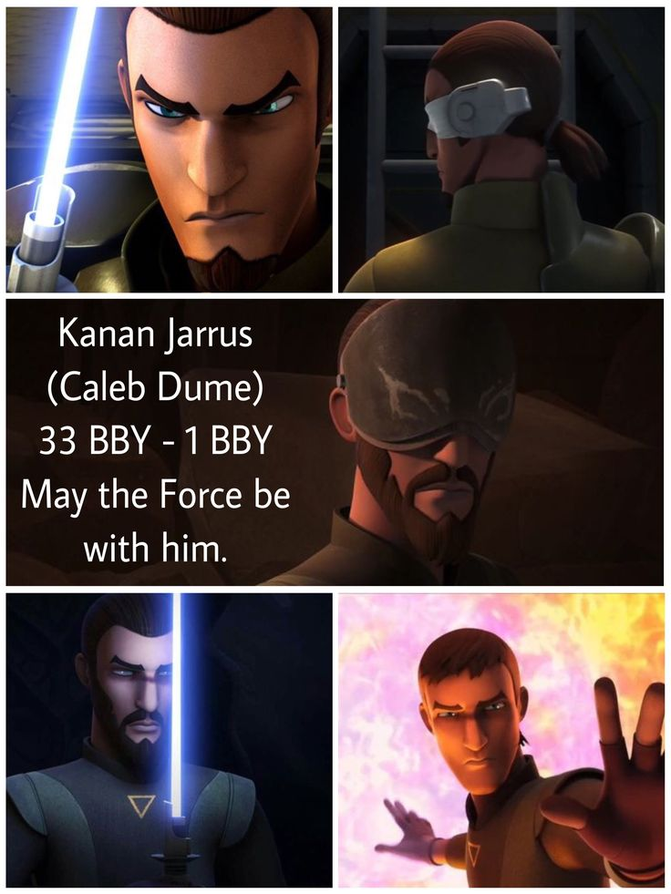 May the Force be with you, Kanan Jarrus.  Star Wars Rebels.