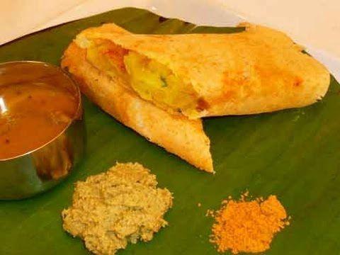 Crispy Dosa (Indian crepe) recipe via Show me the Curry (video).  Printable recipe at http://showmethecurry.com/breads/crispy-dosa.html