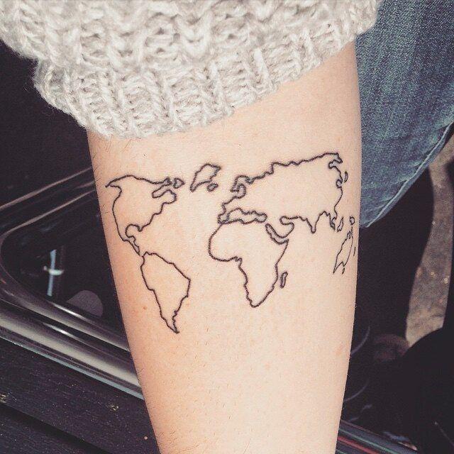 #worldmap #tattoo via @tattoofilter #smalltattoo #littletattoo #life #love #art #girls #fashion #maps #cute