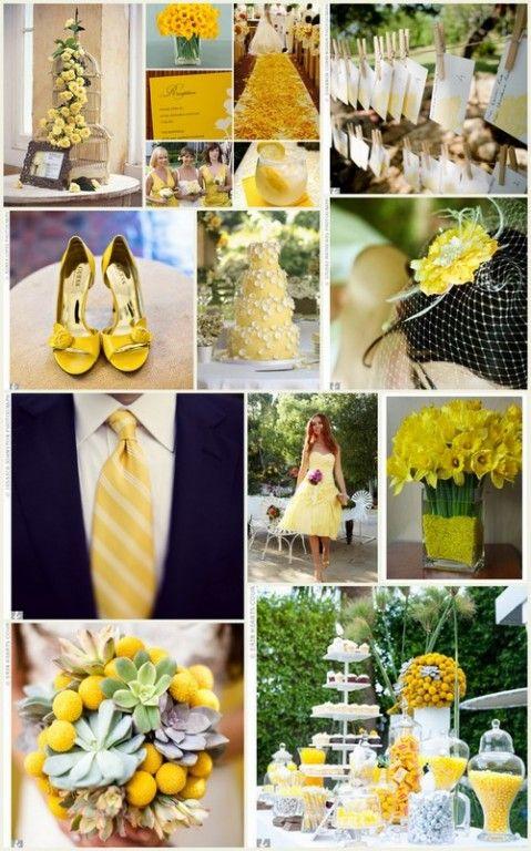 Golden yellow wedding theme