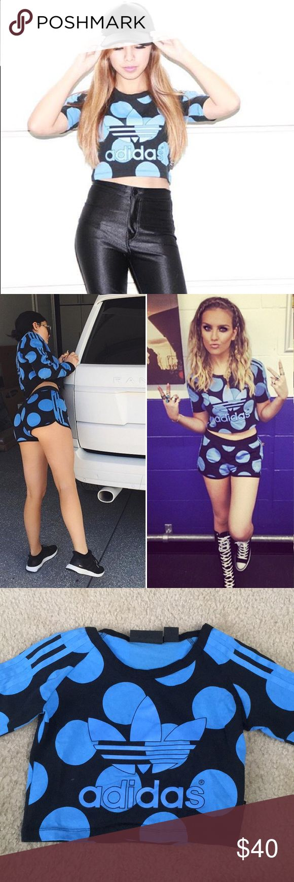 Adidas originals crop tee From the Pharrell Dear Baes collection that is now sold out. As sported by Perrie from Little Mix and Kylie Jenner adidas Tops Crop Tops