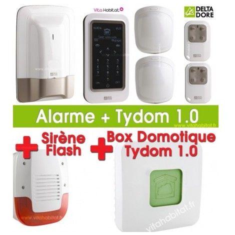 Pack Alarme / Domotique TYXAL PLUS avec Tydom 1.0 et sirène extérieure Delta Dore - ManoMano