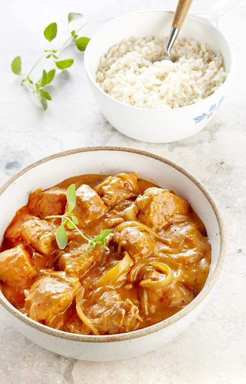 Kalkoenenstoofvlees met paprika