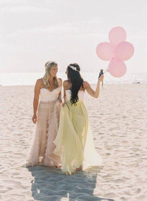 Vestidos de Damas de Honor para Bodas en la Playa 5