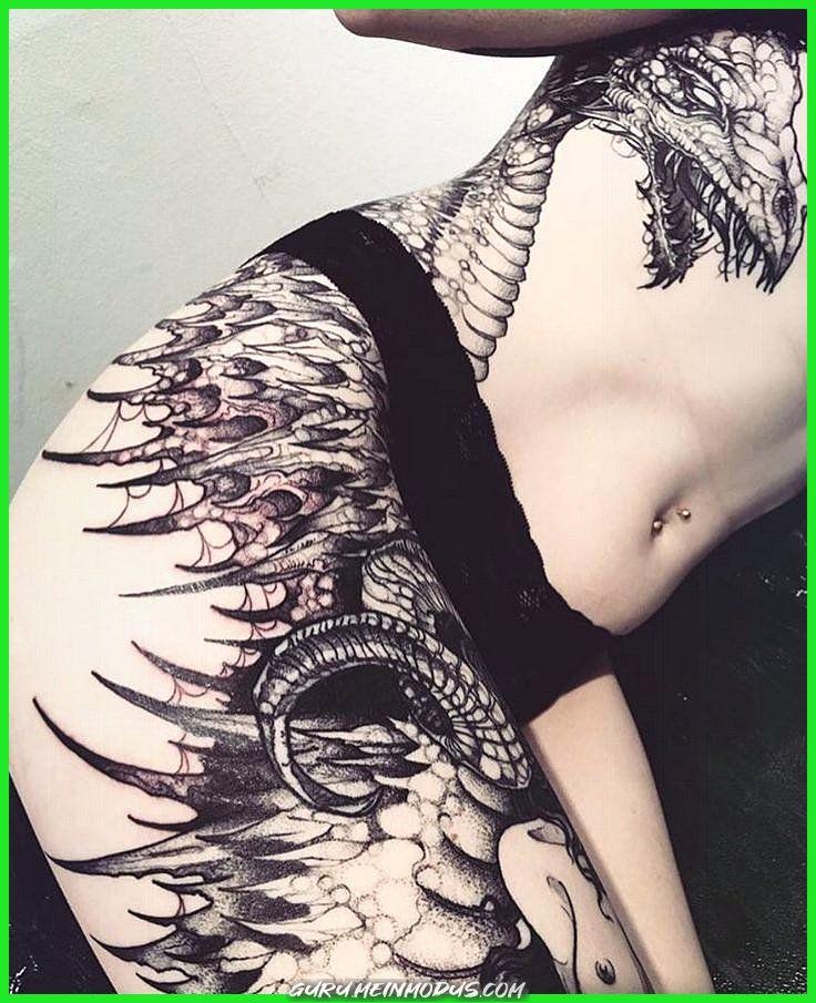 Gothic Dragon Tattoo Gothic Hausdrachen Frauen Gotik Tattoo