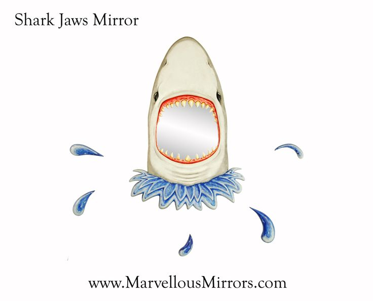 Jaws Mirror by the worlds leading mirror art specialists: MarvellousMirrors.com