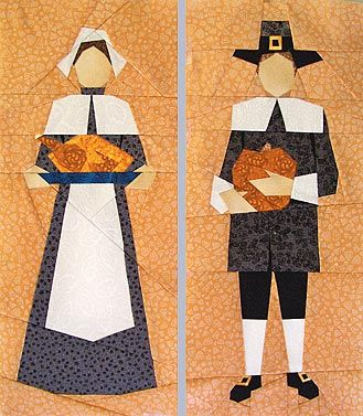 Pilgrims Paper-Pieced Quilt Pattern at paperpanache.com
