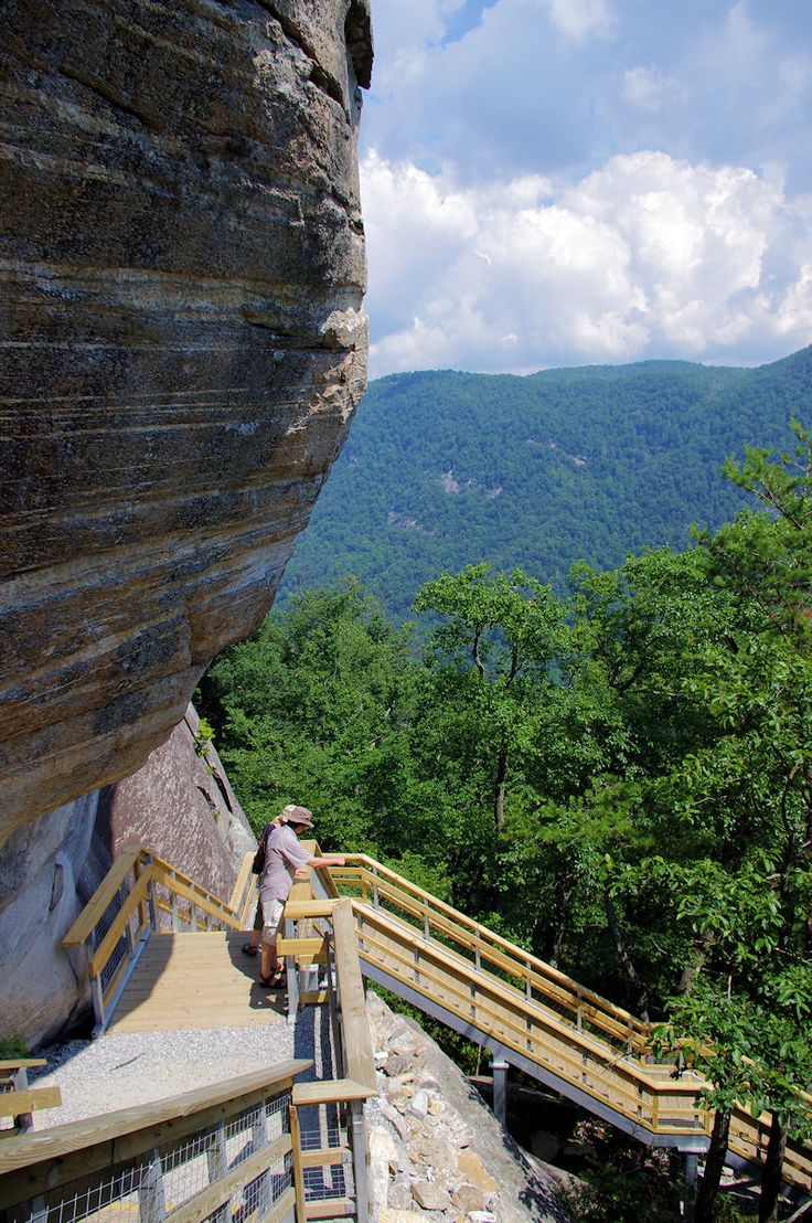 New outcroppings trail (500 steps) up to Chimney Rock ...