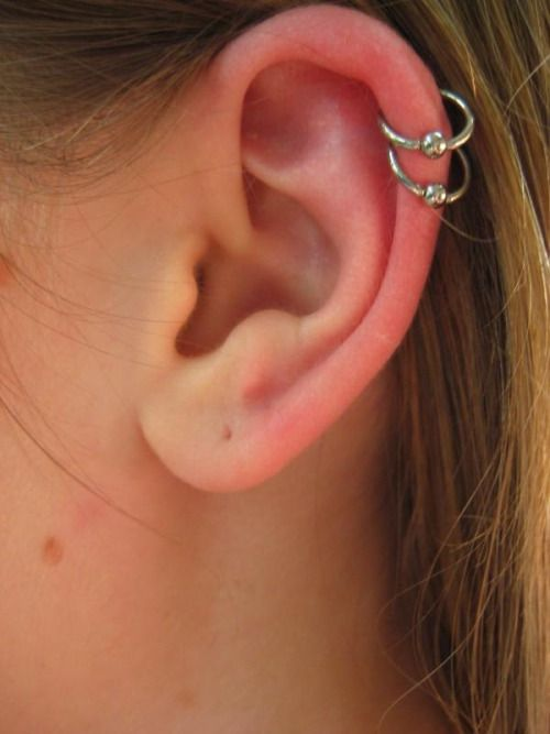 cartilage piercing - jewellery