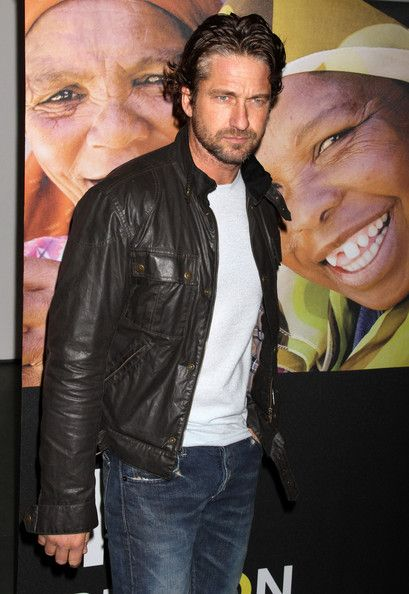 Gerard Butler Leather Jacket - Gerard Butler Looks - StyleBistro