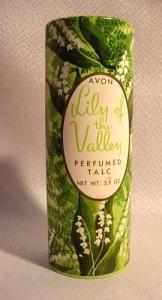 Vintage Avon Lily of the Valley talcum powder