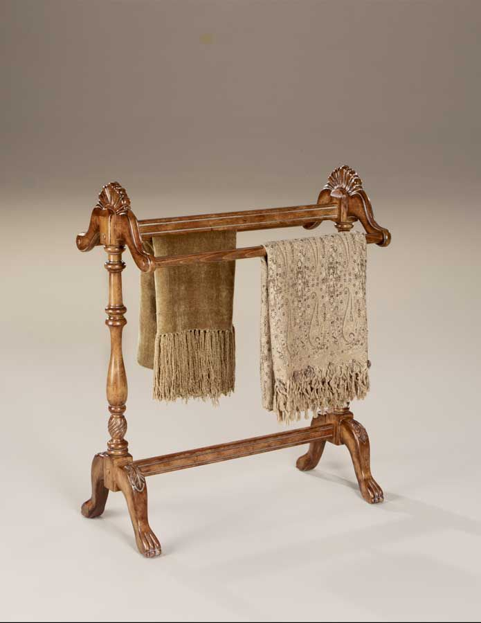Wooden Blanket U0026 Clothes Drying Stand In Oak Finish